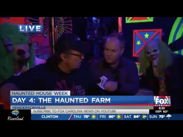 The Haunted Farm 2019 | Joe Gagnon of Fox Carolina News Visits with Sprinkles and Trixie!