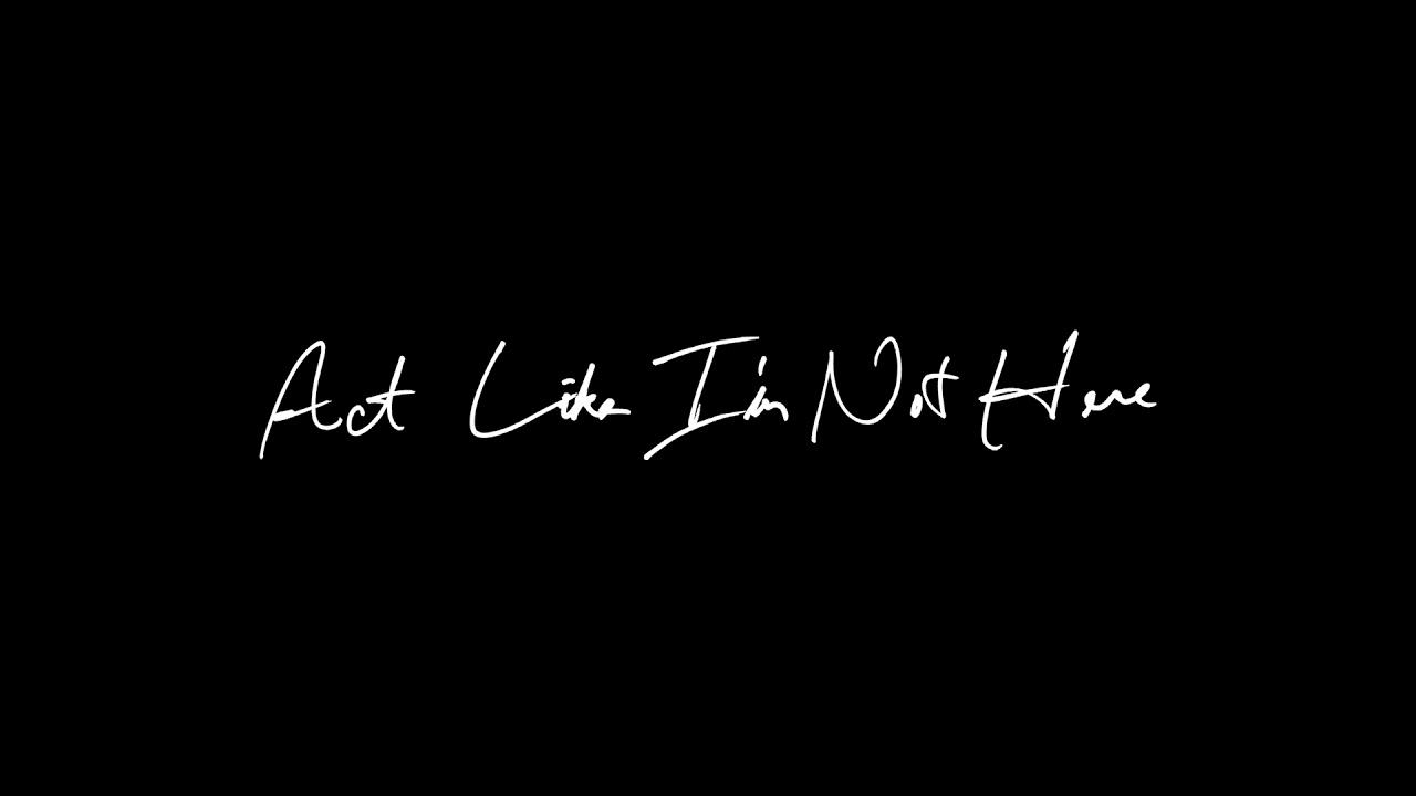 JMSN - Act Like I'm Not Here (Audio)