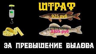 Штраф за перевищення норм вилову риби в 2019 році.