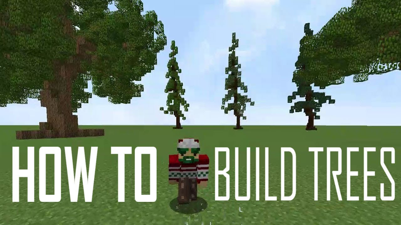 How To Build Trees In Minecraft | Without World Edit And With World Edit |  Minecraft Tutorial