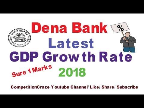 Latest India's GDP Growth Forecast 2018 | Dena Bank | SBI |RBI | NABARD
