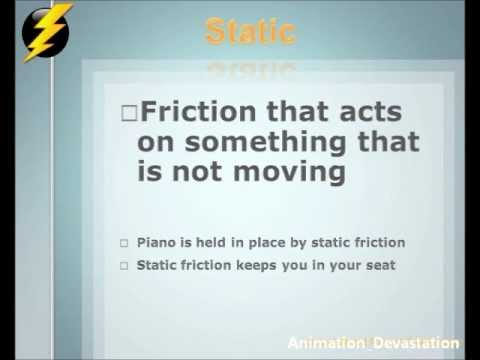 Worksheets Types Of Friction types of friction animated presentation youtube presentation