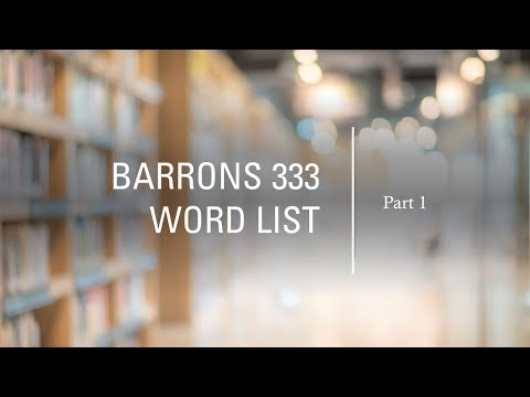 BARRONS 333 High Frequency Word List for the GRE: Part 1 - F