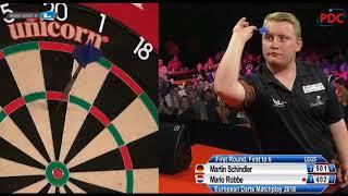 2018 European Darts Matchplay Round 1 Schindler vs Robbe