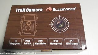 BLAZEvideo Trail Camera DETAILED settup and Review Tutorial thumbnail