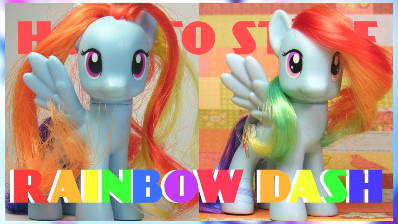 Mlp How To Style Rainbow Dash No Cutting Youtube