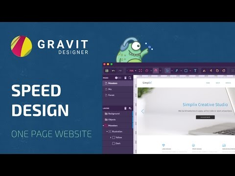 Speed Design in Gravit Designer - One Page Website