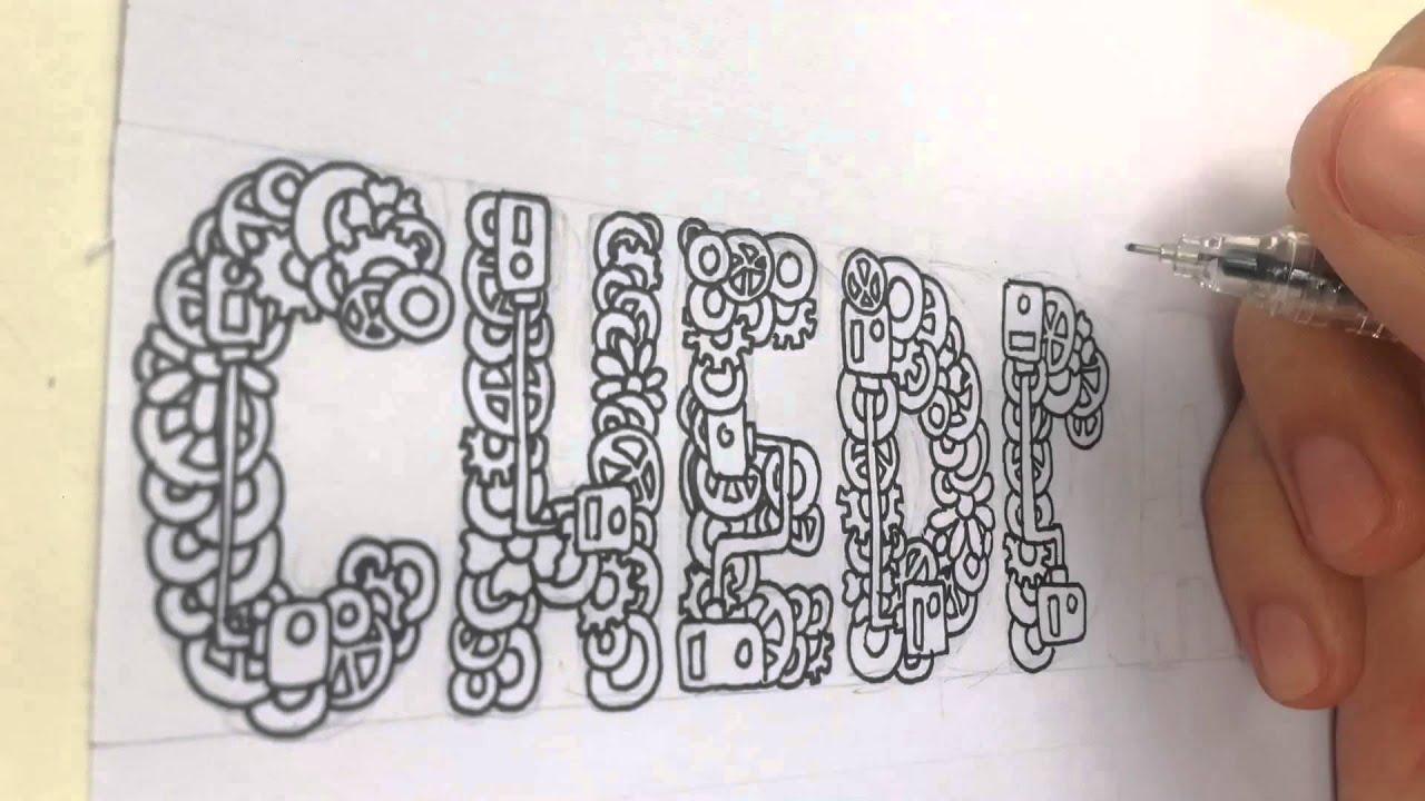 CHEDDAR Doodle Word