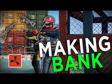Making BANK From The CARGO SHIP! - Rust Duo Survival #2