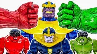Hulk Family vs Red Hulk ! Mega Battle With THANOS Appeared~! Superhero Toys - Toy Marvel