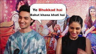 loveratri couples ayush sharma and warina hussain Making Fun of Each other