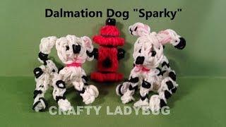 Rainbow Loom Charm Dalmatian Dog Advanced Tutorial By Crafty Ladybug