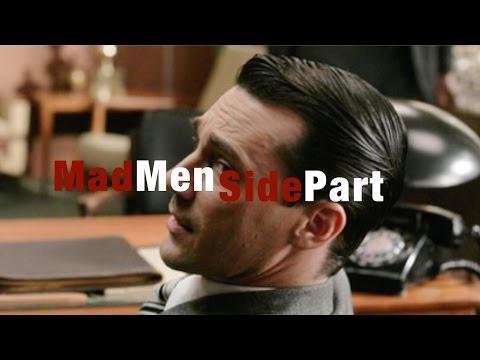 Classic Mad Men Style Side Part Tutorial (hairstyle update)