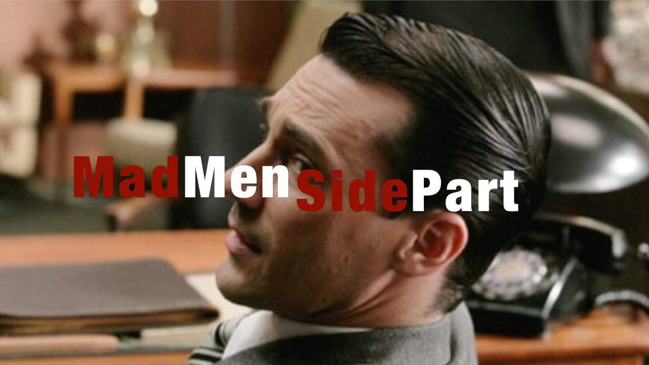 Classic Mad Men Style Side Part Tutorial Hairstyle Update Youtube