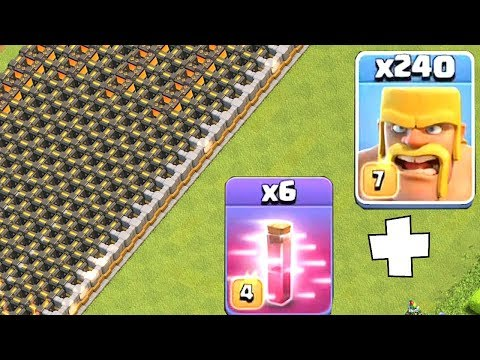 THE GREAT WALL!! | Clash Of Clans | ALL BARBS AND HASTE!