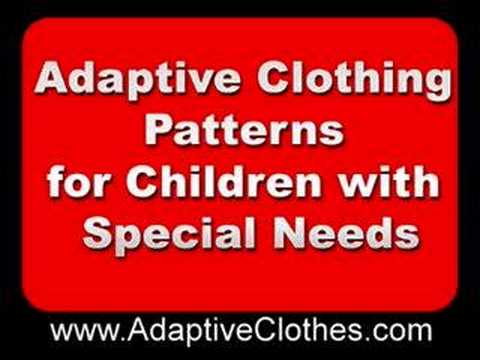 Adaptive Clothing Patterns for Children With Special Needs - YouTube