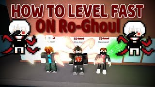 How to Level Fast & Level Code! on Ro-Ghoul (Roblox)