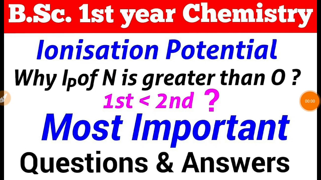 Ionisation potential [Period Properties ] |B Sc  1st year chemistry