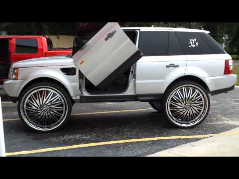 all white range rover on 26 39 forgiatos staggered wheels doovi. Black Bedroom Furniture Sets. Home Design Ideas