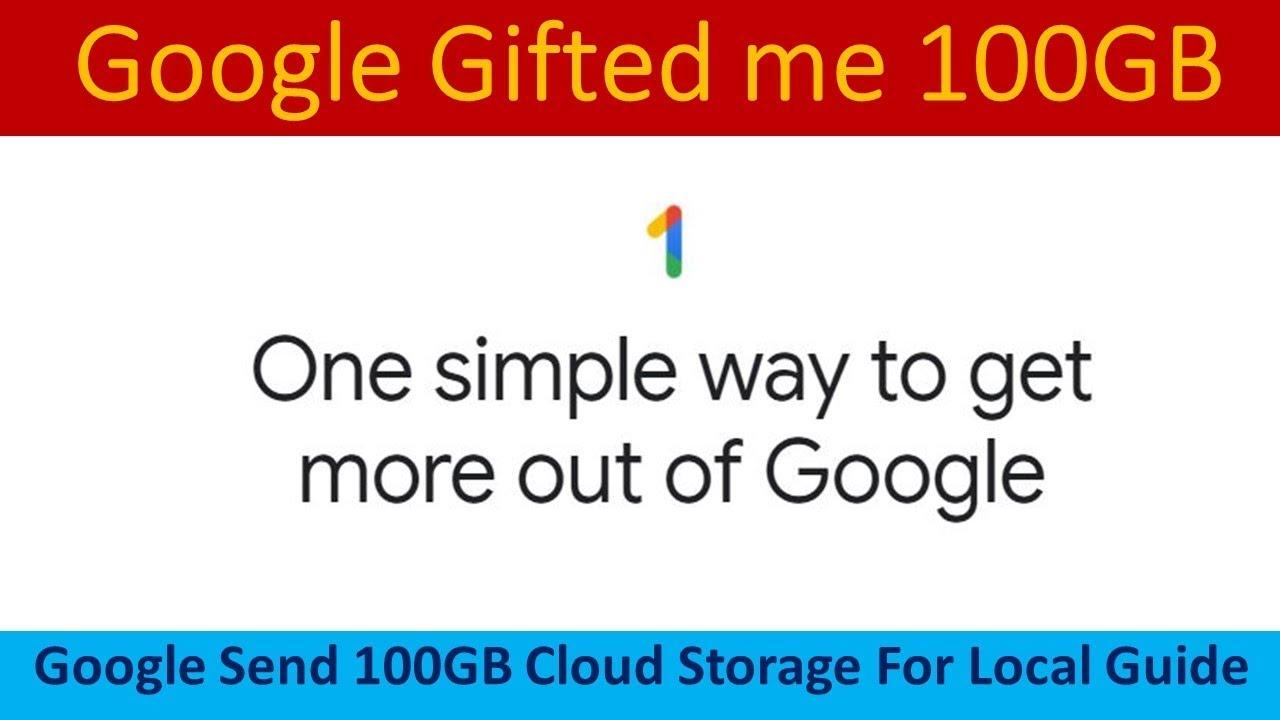 Gift from Google - 100GB free Google drive storage