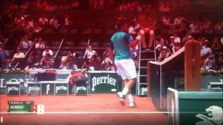 Wawrinka  vs Murray demie final Roland Garros 2017