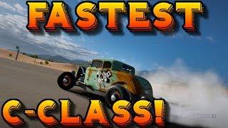 Forza Horizon 3: FASTEST C-CLASS DRAG CAR!!?? - (1932 Ford De Luxe Five - Window Coupe)
