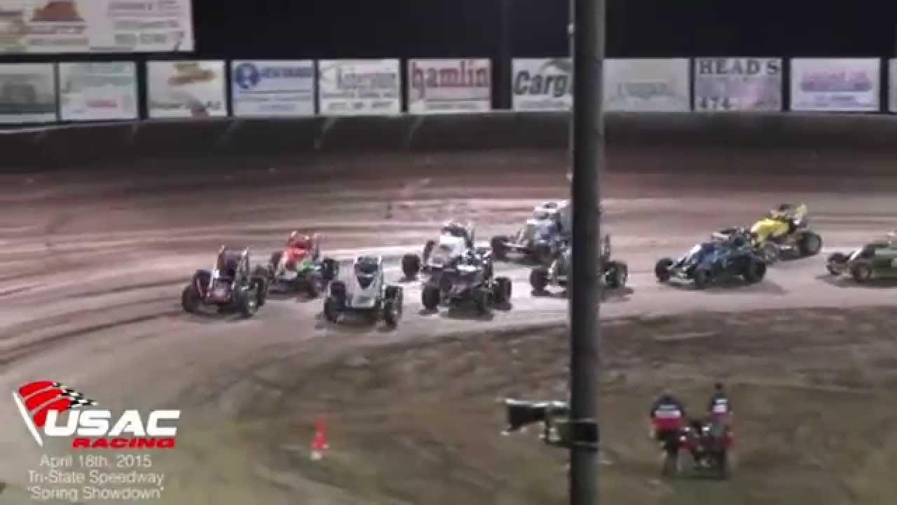 AMSOIL USAC National Sprint Cars at Tri-State Speedway 4-18-15