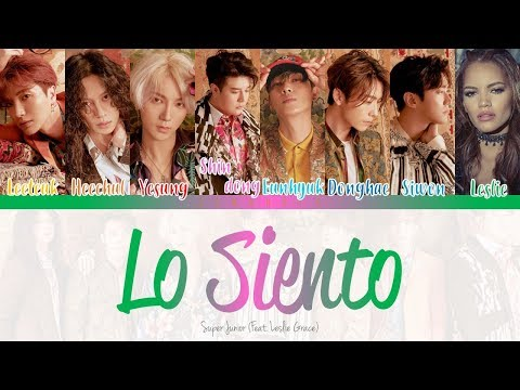 SUPER JUNIOR ( 슈퍼주니어) 'Lo Siento (Feat. Leslie Grace)' [Color Coded Lyrics] Han|Rom|Eng