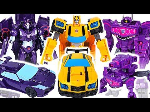 Transformers Cyberverse ultra class Shadow Striker, Shockwave VS Bumblebee, Grimlock! #DuDuPopTOY