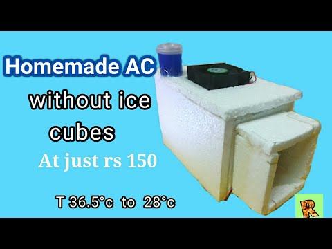 Homemade AC works without ice cubes