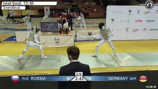 2018 824 F F Team Katowice POL WC Semifinal 02 YELLOW GERMANY GER vs RUSSIA RUS