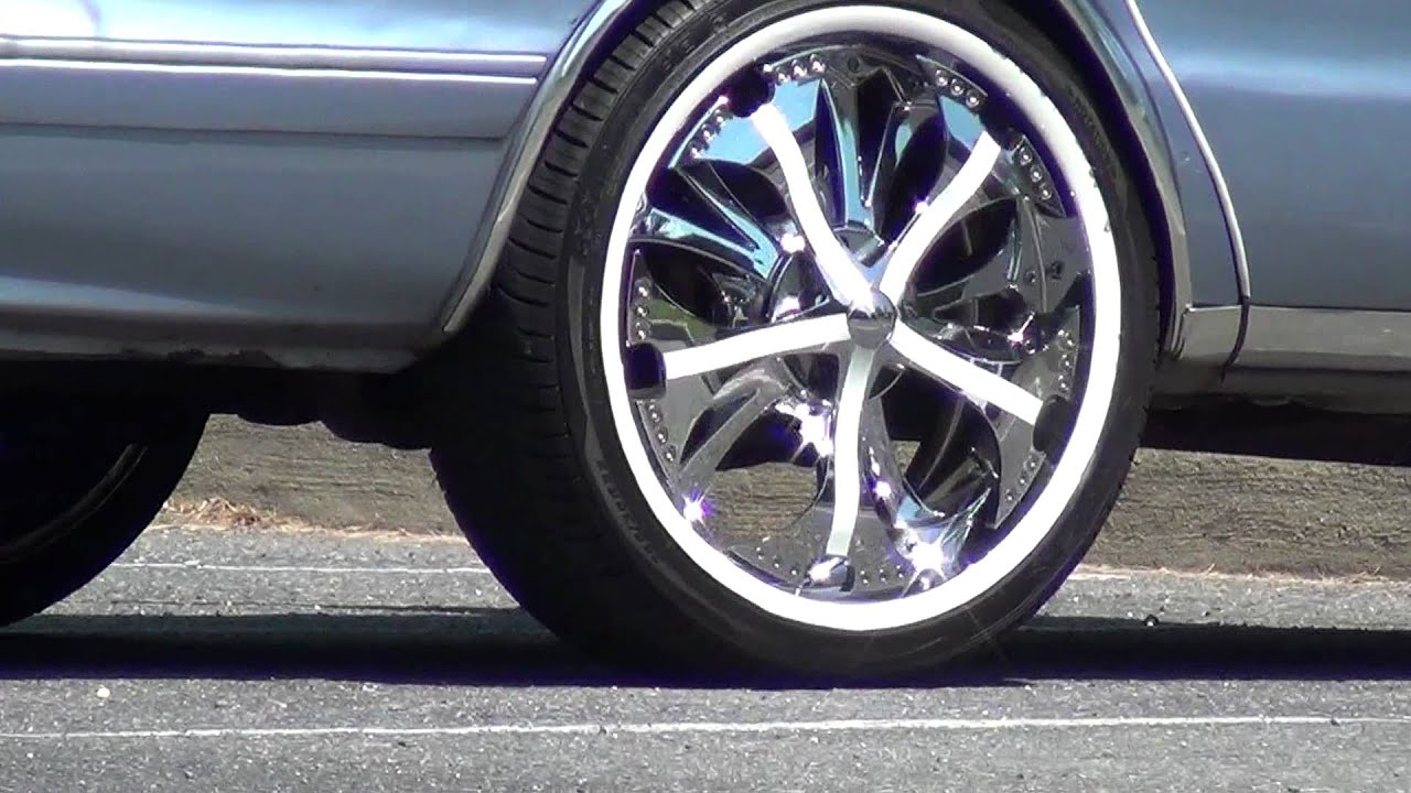 Chevy car with 22 inch SPINNER CHROME RIMS!!!!! - YouTube
