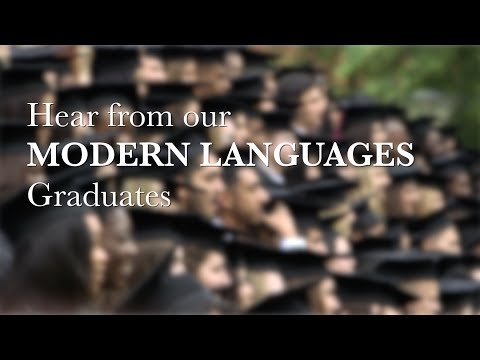 Hear from our Modern Languages graduates