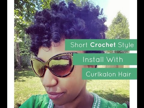 Youtube Short Crochet Hairstyles : Short Crochet Style Install with Curlkalon Hair - YouTube