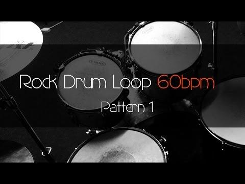 ROCK Drum Loop Practice Tool 60bpm Pattern 1