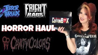 Horror Shirt Haul Terror Threads Fright Rags Cavity Colors & Rue Morgue Coffin Box Unboxing