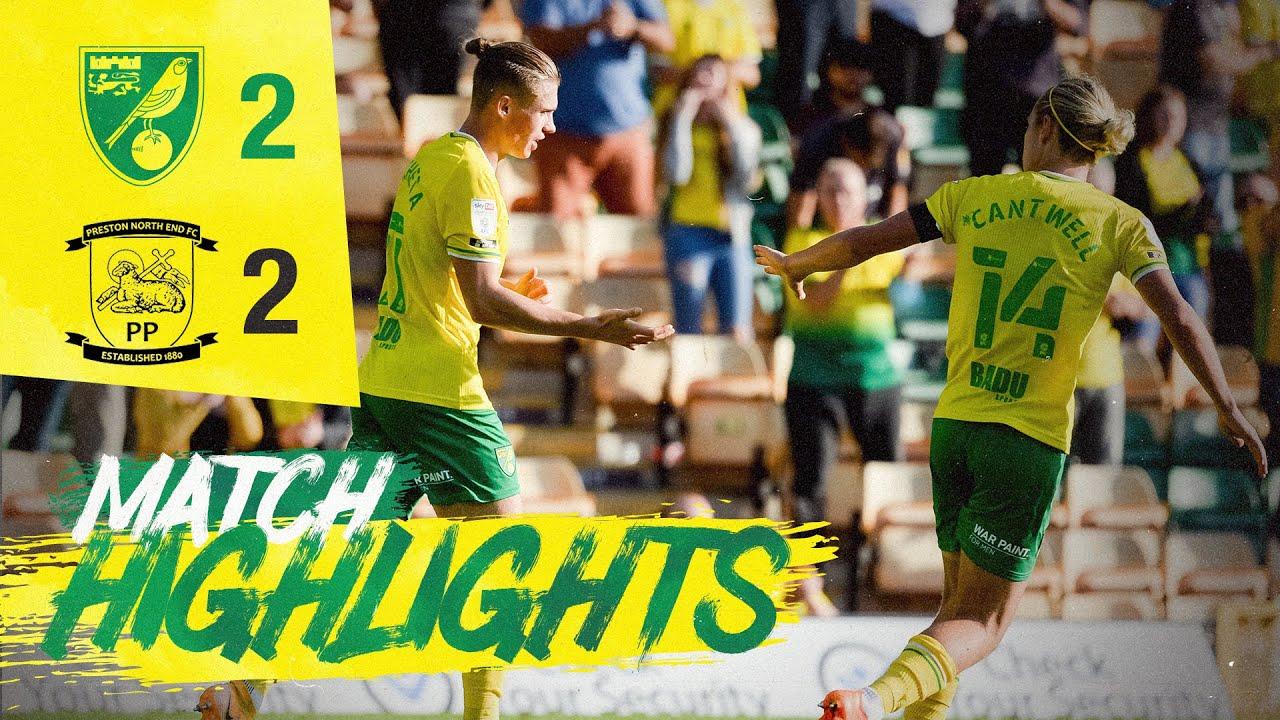 HIGHLIGHTS   Norwich City 2-2 Preston North End