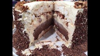 Torta imperial rusa, puro merengue