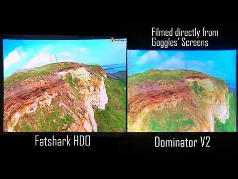 Fatshark HDO vs. Dominator V2 Screen Comparison - The BEST FPV Goggles Testing EVER!