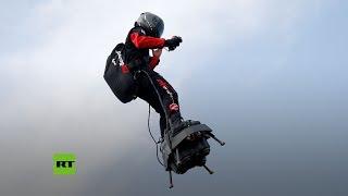 El 'hombre volador' intenta sobrevolar el Canal de la Mancha