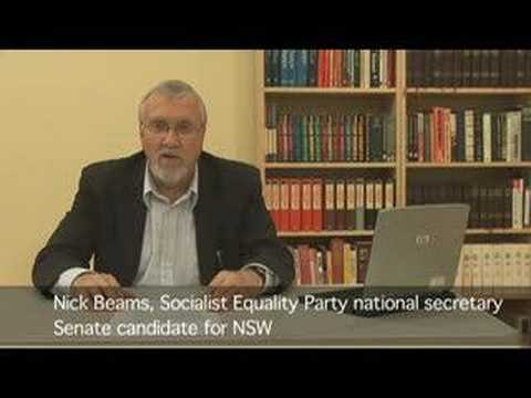 Socialist Equality Party (SEP) Australia election broadcast