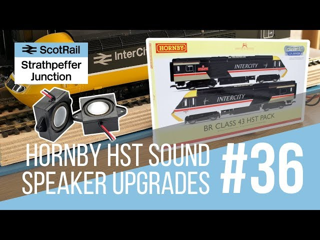 #36 Hornby Class 43 HST DCC Sound - Upgrading the Stock Speakers (TTS & LokSound Decoders)