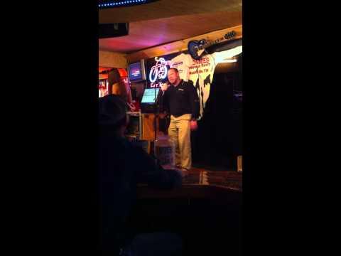 Butch singing Karaoke