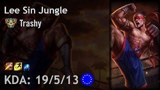 Lee Sin Jungle vs Zac - Trashy - EUW Challenger Patch 6.24