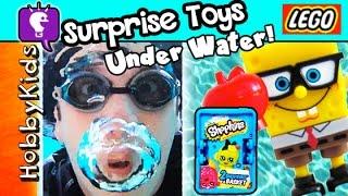 Hawaii UNDERWATER Surprise Toys! Shopkins + LEGO Minifigs + Spongebob HobbyKidsTV