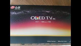 65 inch LG C7 OLED TV Unboxing!