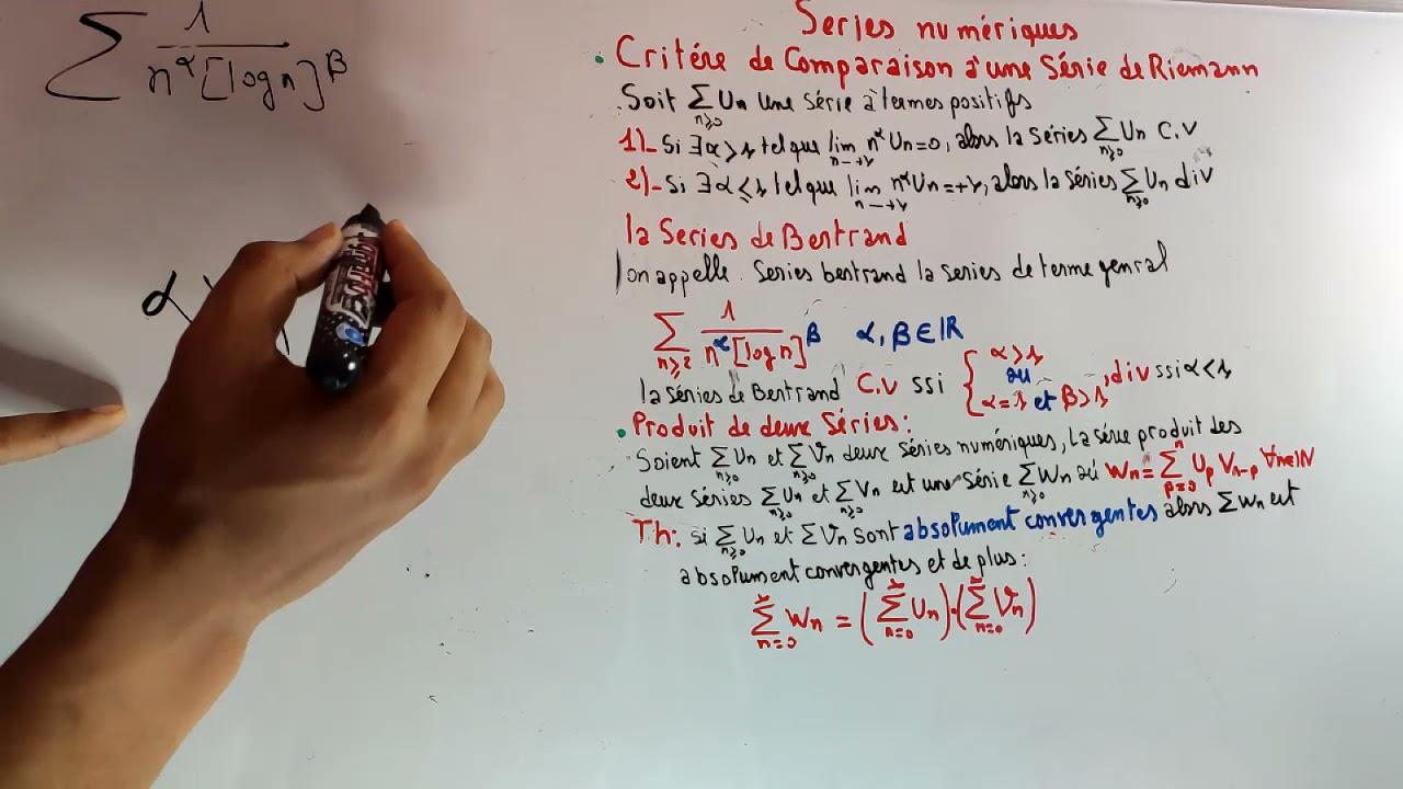 Les Séries Numériques (analyse 2 ) : les series de bertrand , Produit de deux Séries Partie 08
