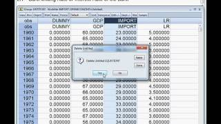 How to use dummy variable in a regression model? Model Two. EVIEWS