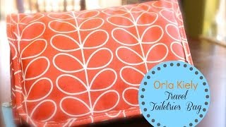 My Organized Orla Kiely Travel Toiletries Bag {how to organize}