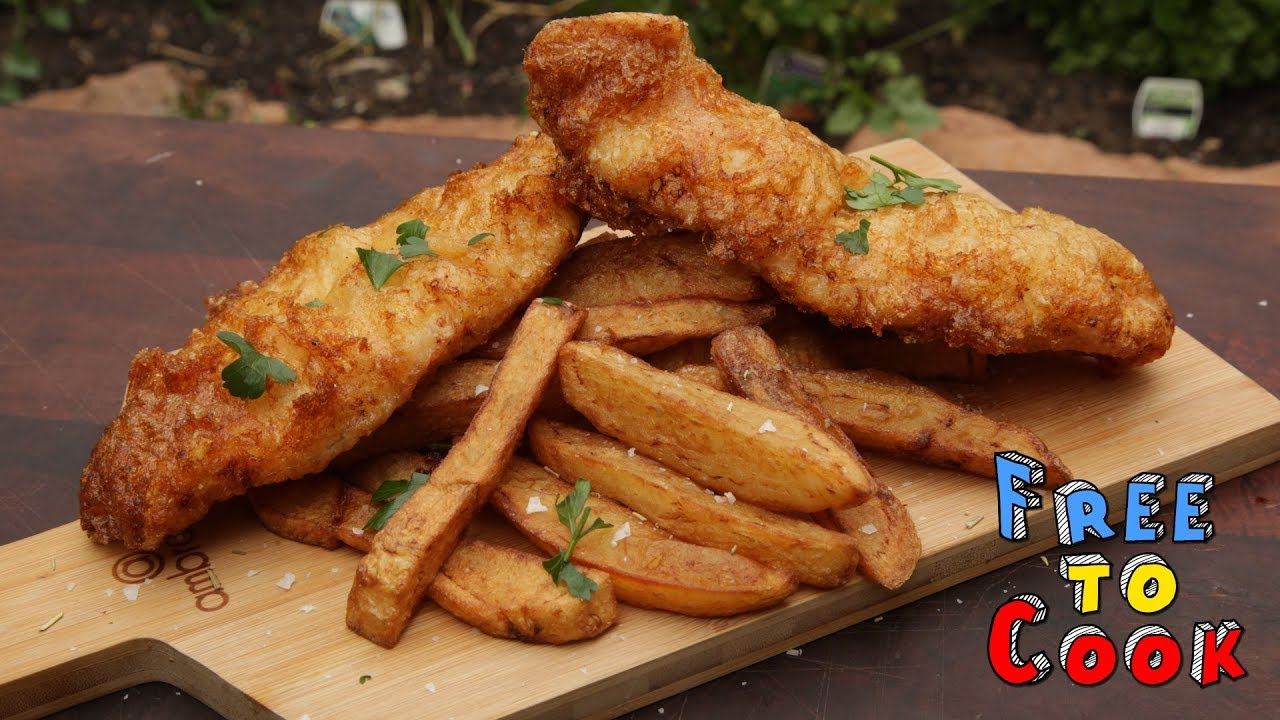 How to cook classic fish and chips youtube for How to make fish and chips